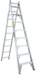Escalera convertible de aluminio 17 escalones cuprum c for Escaleras cuprum