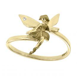 anillo fianelli en forma de hadita con oro amarillo k con diamante sophy vianbd