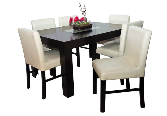 Comedor ronda mesa y 6 sillas sears com mx me entiende for Comedores triangulares de 6 sillas