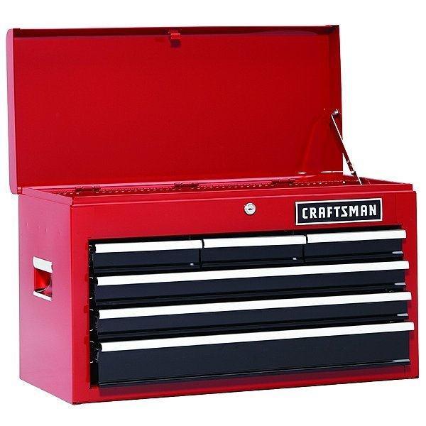 Modular Superior Rojo Y Negro 6 Cajones Craftsman Modelo