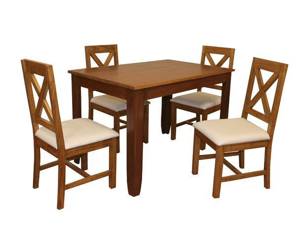 Antecomedor 4 sillas san francisco madera pino annie for Comedores de 4 sillas economicos