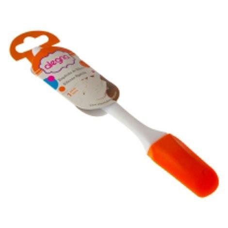 Esp tula de silic n con mango pl stico color naranja - Espatula plastico cocina ...