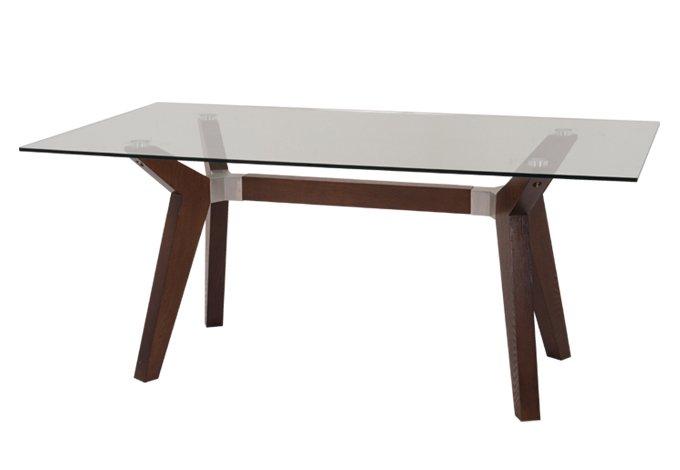 Mesa de comedor rectangular para 6 personas con cubierta for Cristal para mesa rectangular