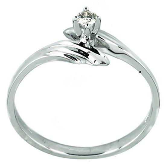 Anillo de oro bercov blanco con diamante 06 puntos 5124 for Precio rodiar anillo oro blanco