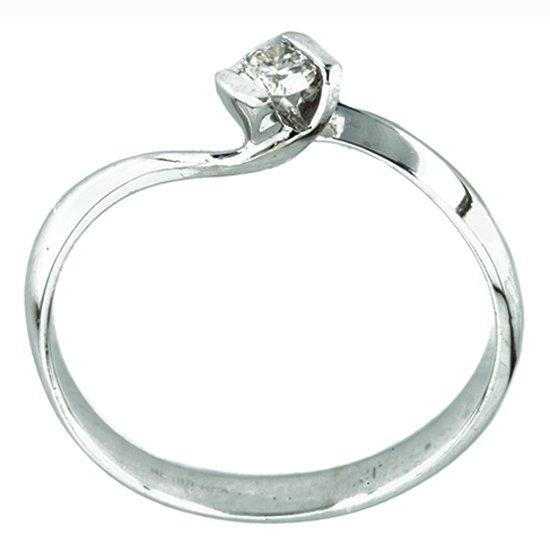 Anillo de oro blanco bercov con diamante 12 puntos 6536 for Precio rodiar anillo oro blanco