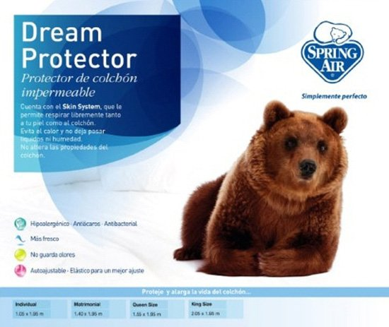 Protector de colch n de rizo spring air king size sears for El mejor colchon king size