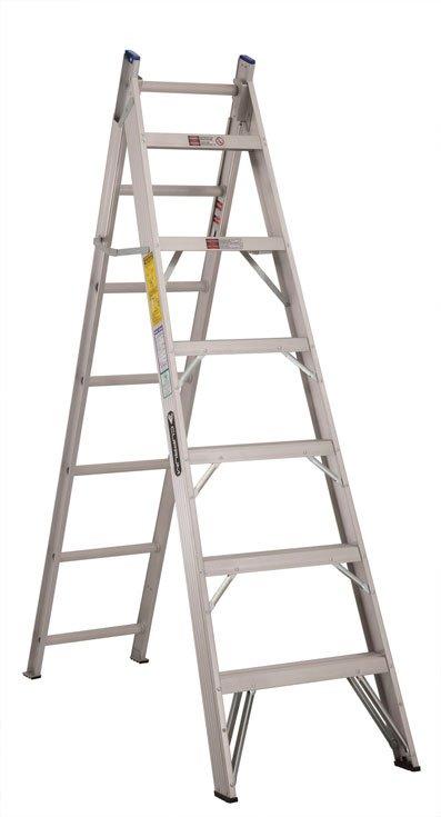Escalera convertible de aluminio 13 escalones cuprum c for Escaleras articuladas de aluminio