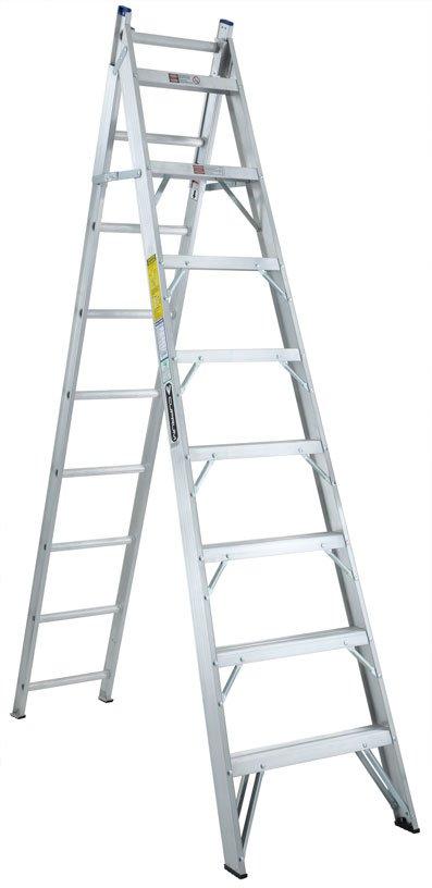 Escalera convertible de aluminio 17 escalones cuprum c for Precio de escalera extensible de aluminio