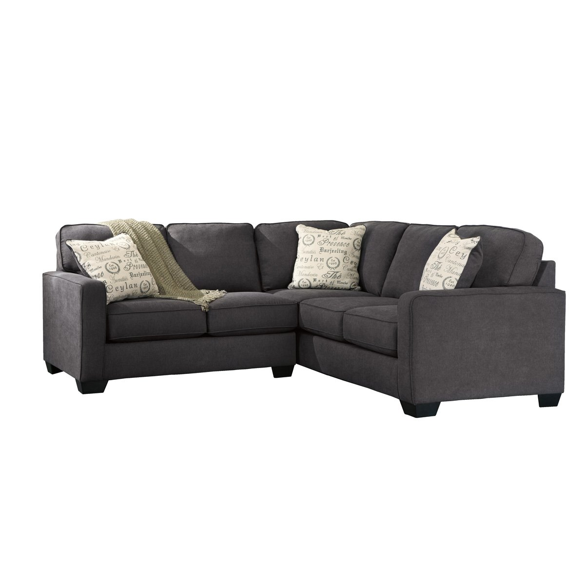 Sala modular ashley alenya gris sofa love seat sears com for Sofa modular gris