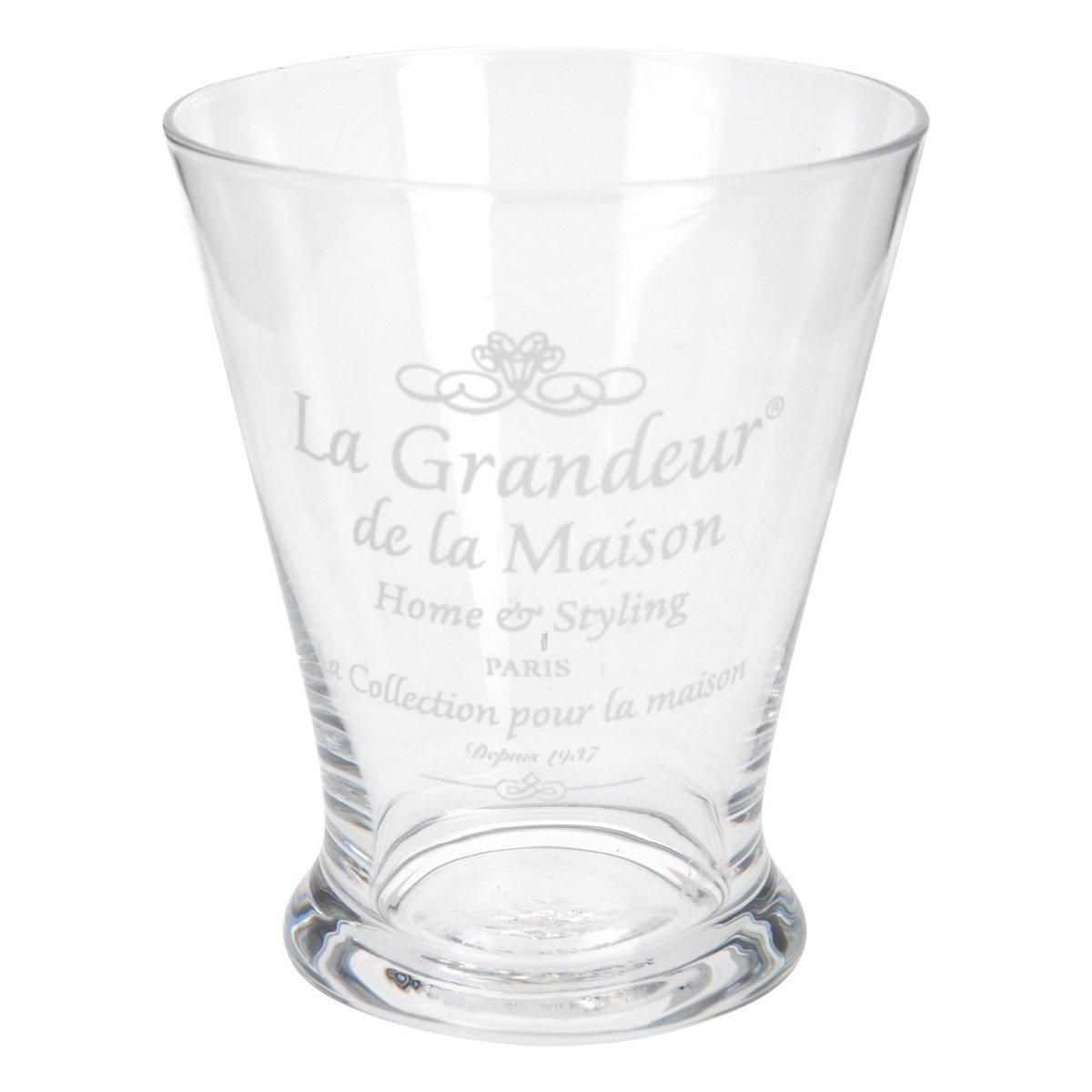 Vaso de vidrio decorado transparente sears com mx me entiende - Vidrio plastico transparente precio ...