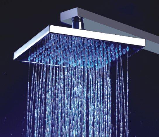 Regadera cuadrada con efecto de lluvia sears com mx me for Ducha efecto lluvia precio