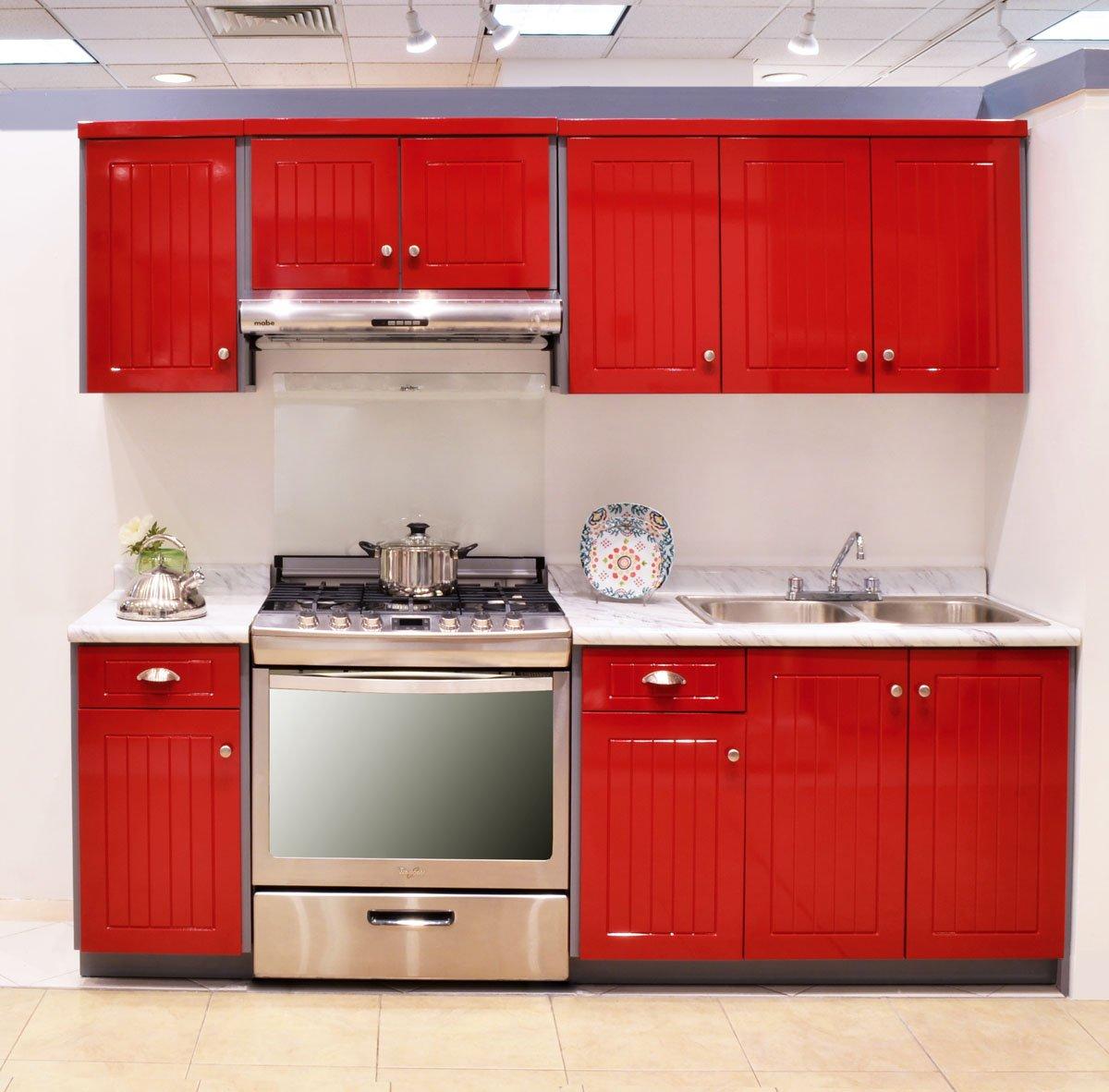 Cocina Modular Alondra New Challenge 2.43 Mts Roja
