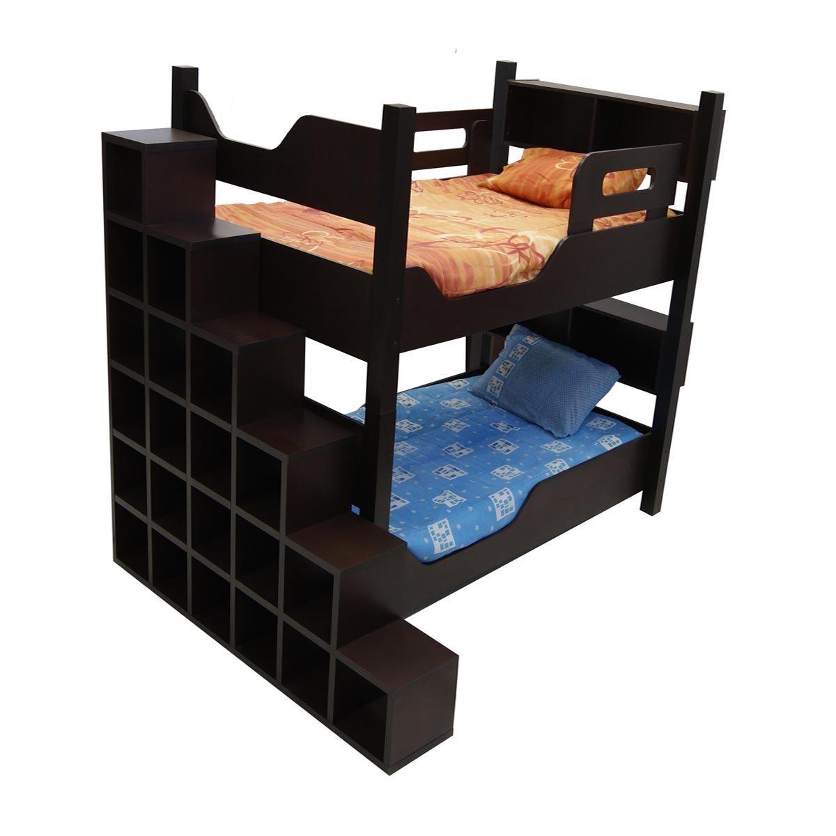 Litera escada con 2 camas individuales gemelas sears com for Recamaras con camas individuales