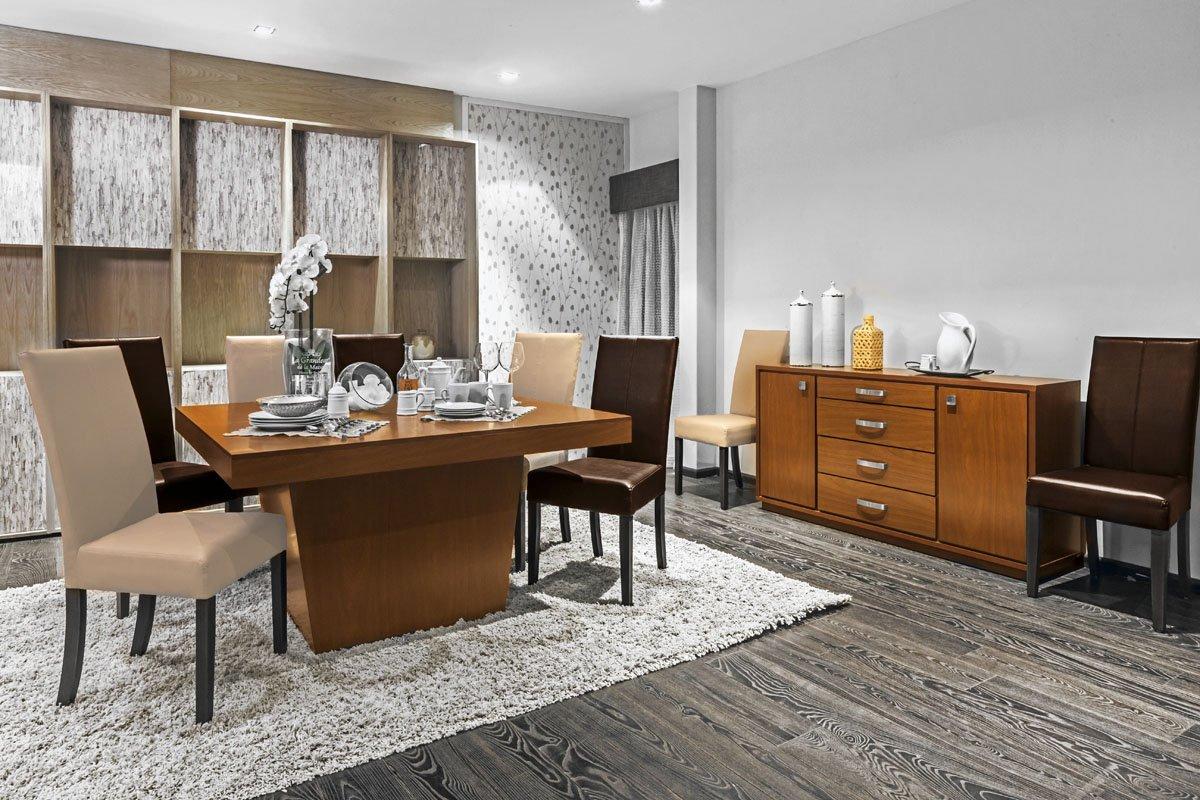 Mesa rectangular aries color nuez para 6 sillas sears - Sklum muebles ...