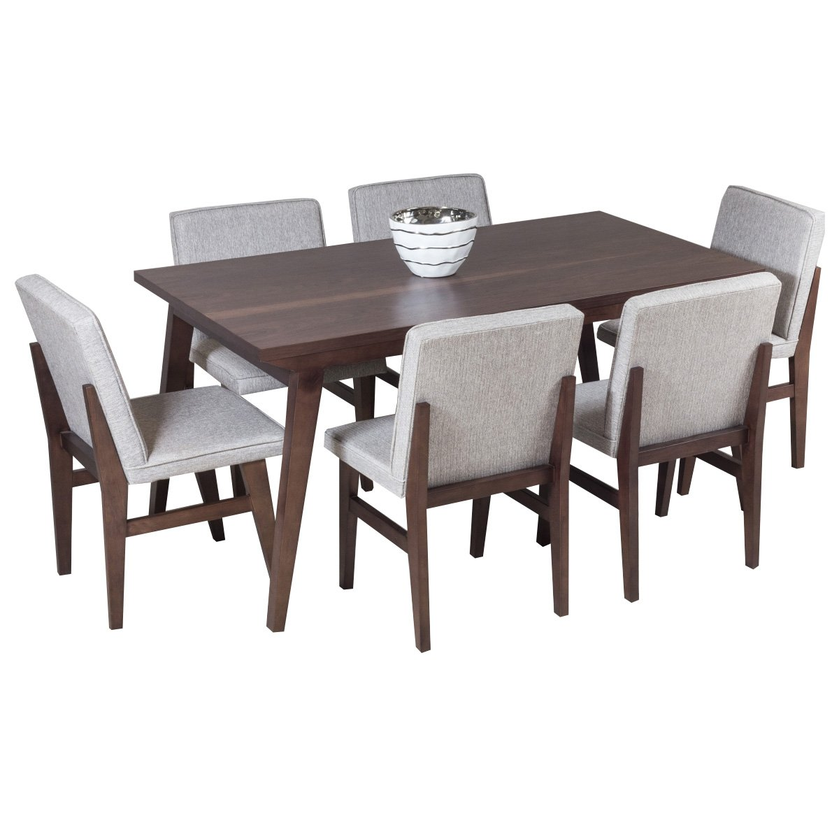 Comedor neruda con 6 sillas color nogal vigar sears com for Comedores para bebes