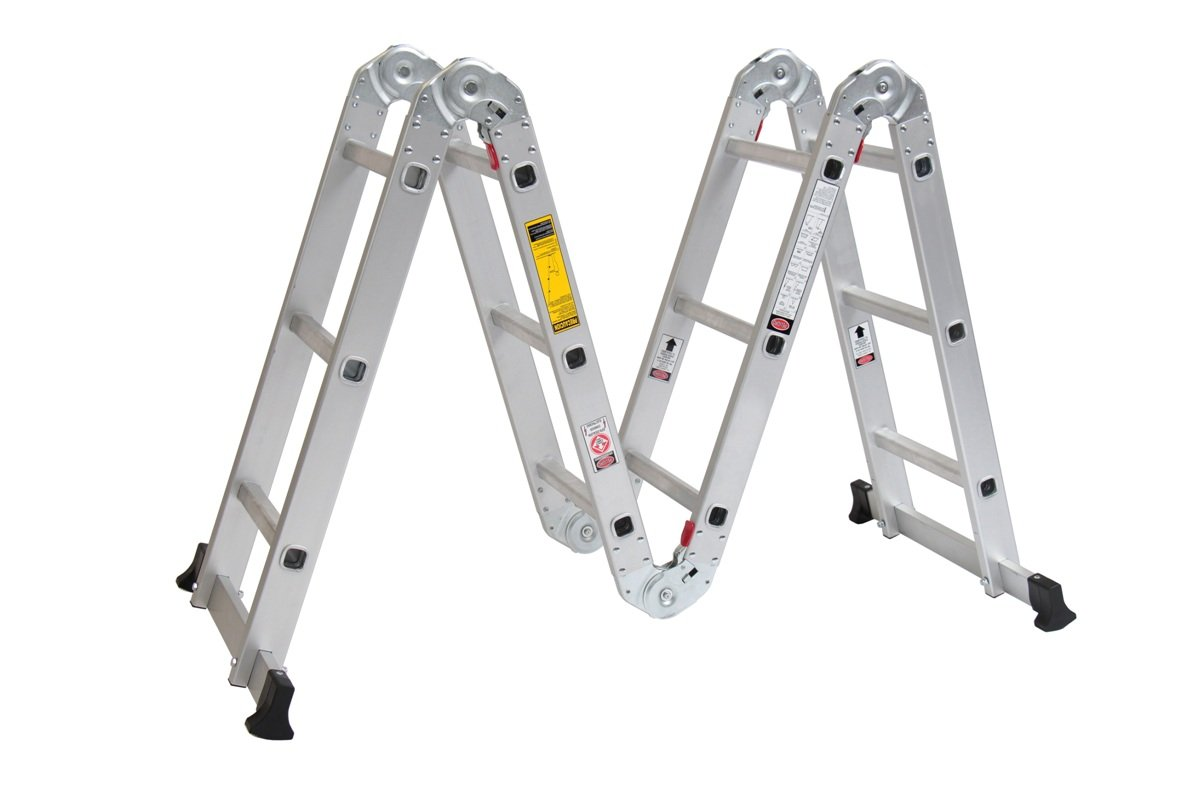 Escalera multiposiciones de aluminio cuprum mod c 2096 13 for Precio de escaleras extensibles