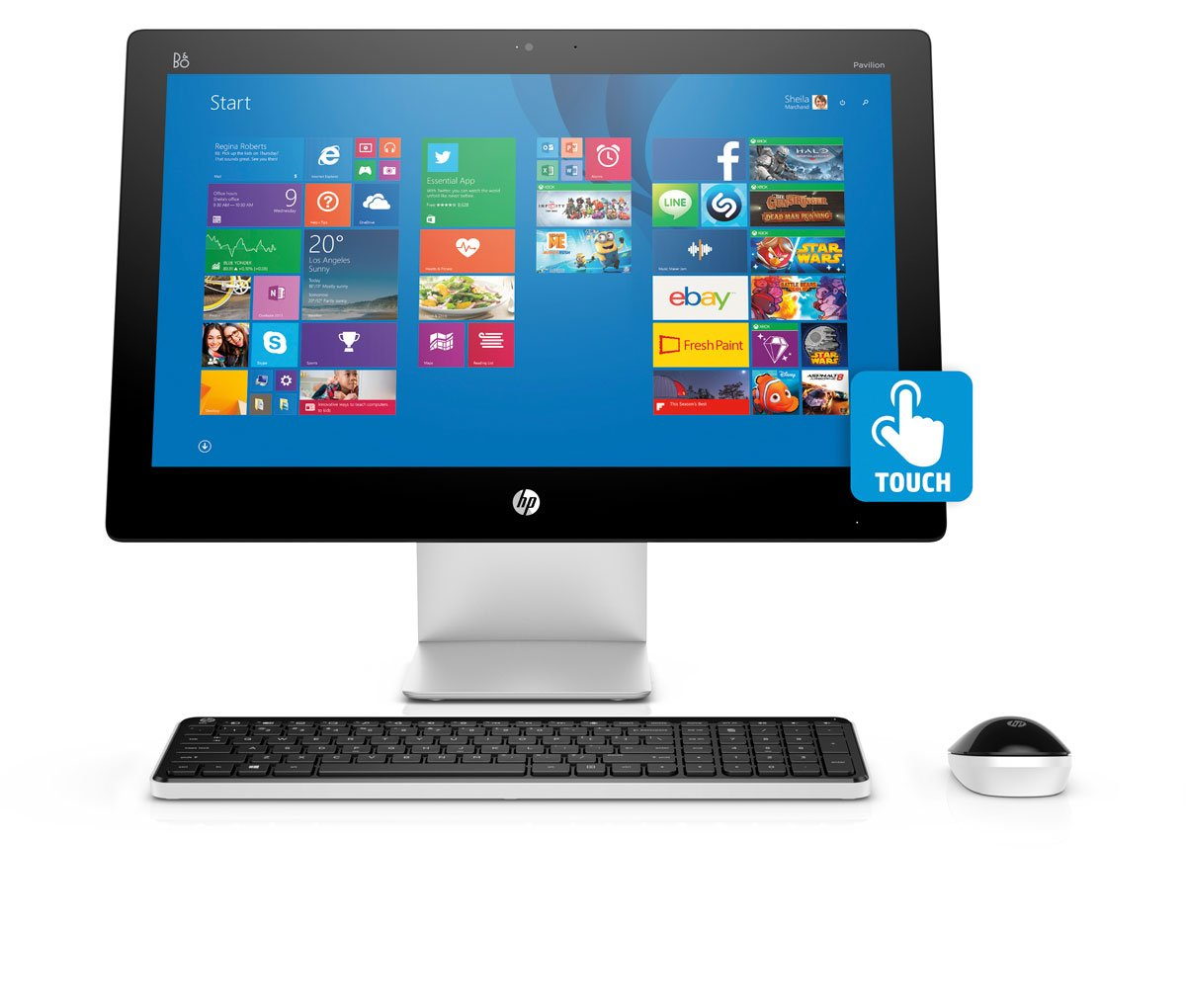Desktop hp all in one touch 21 5 quot 22 a153la sears com mx me
