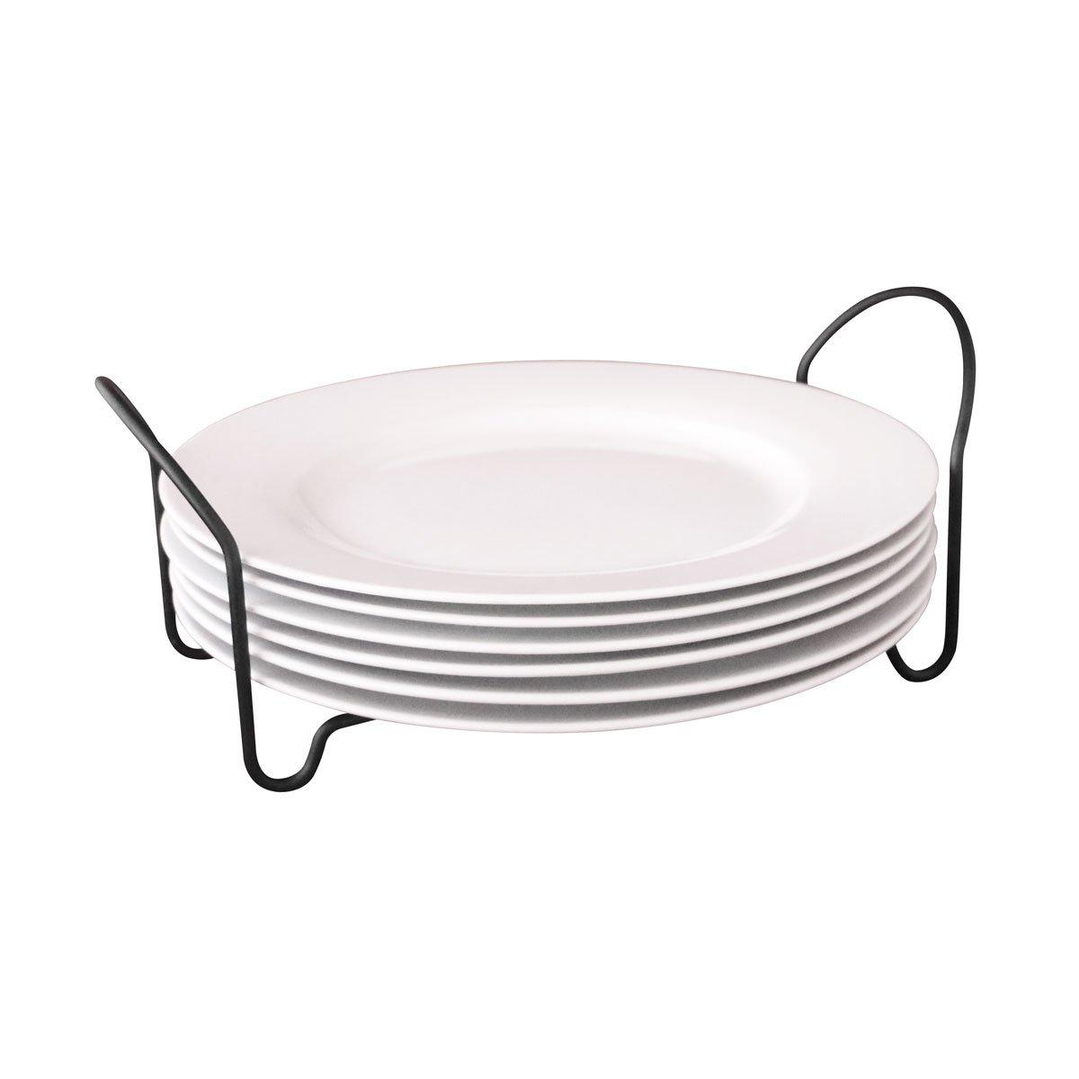 Set de 6 platos trinche de porcelana con rack sears com for Set de platos