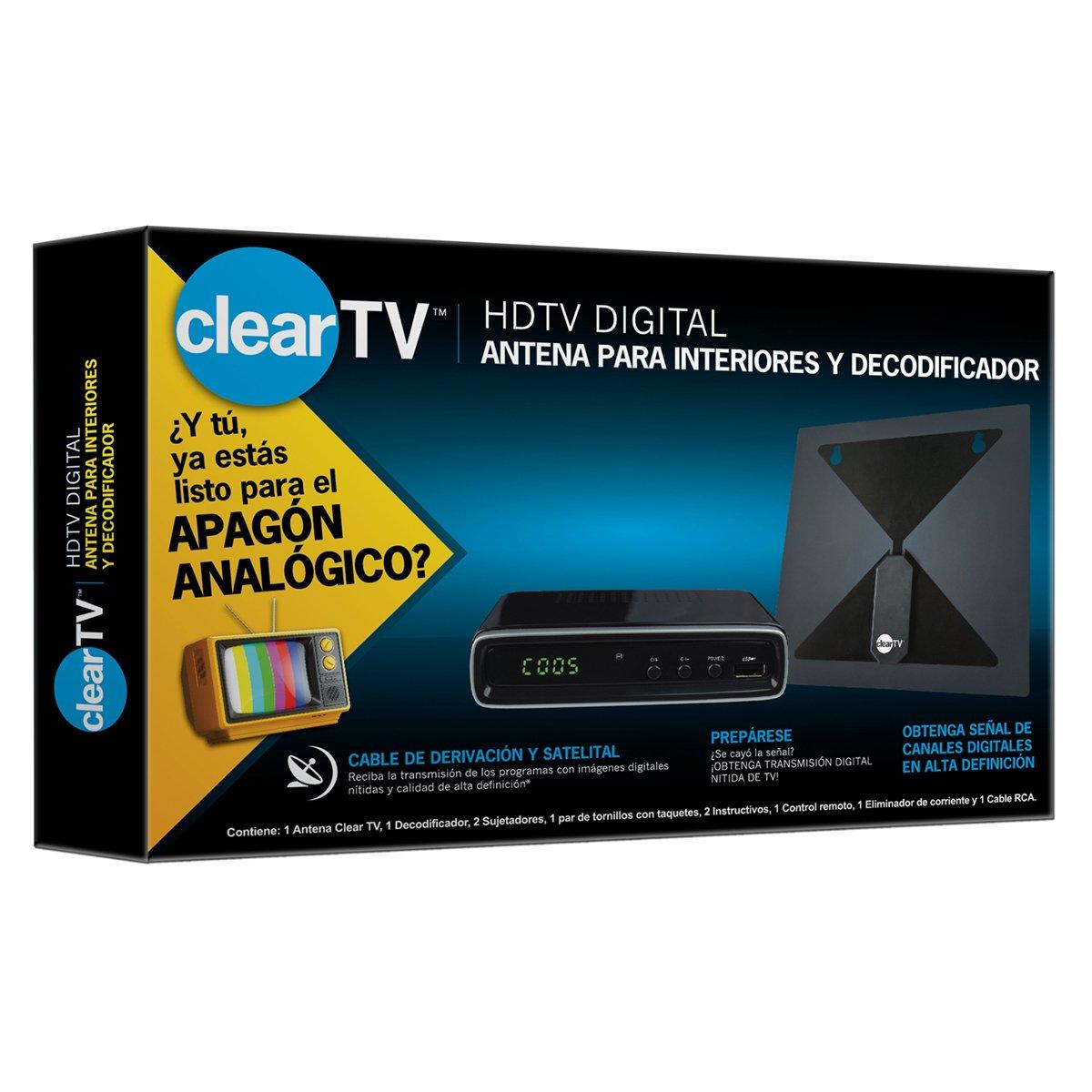 Clear tv antena decodificador sears com mx me entiende for Antenas de tv interiores