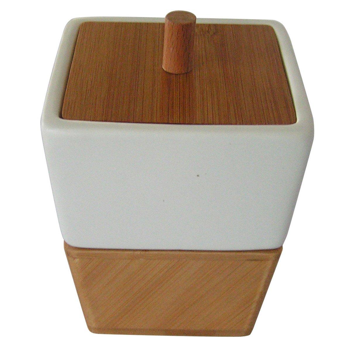 Contenedor para ba o de bamb y porcelana sears com mx for Accesorios bano bambu