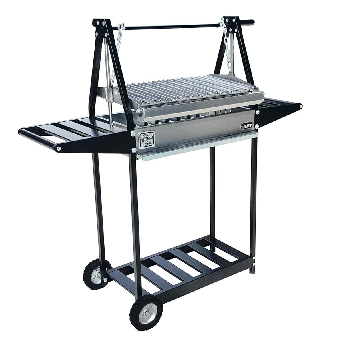 Asador de carbon hobby grill mod iguazu black 2 mesas for Asadores para jardin fotos