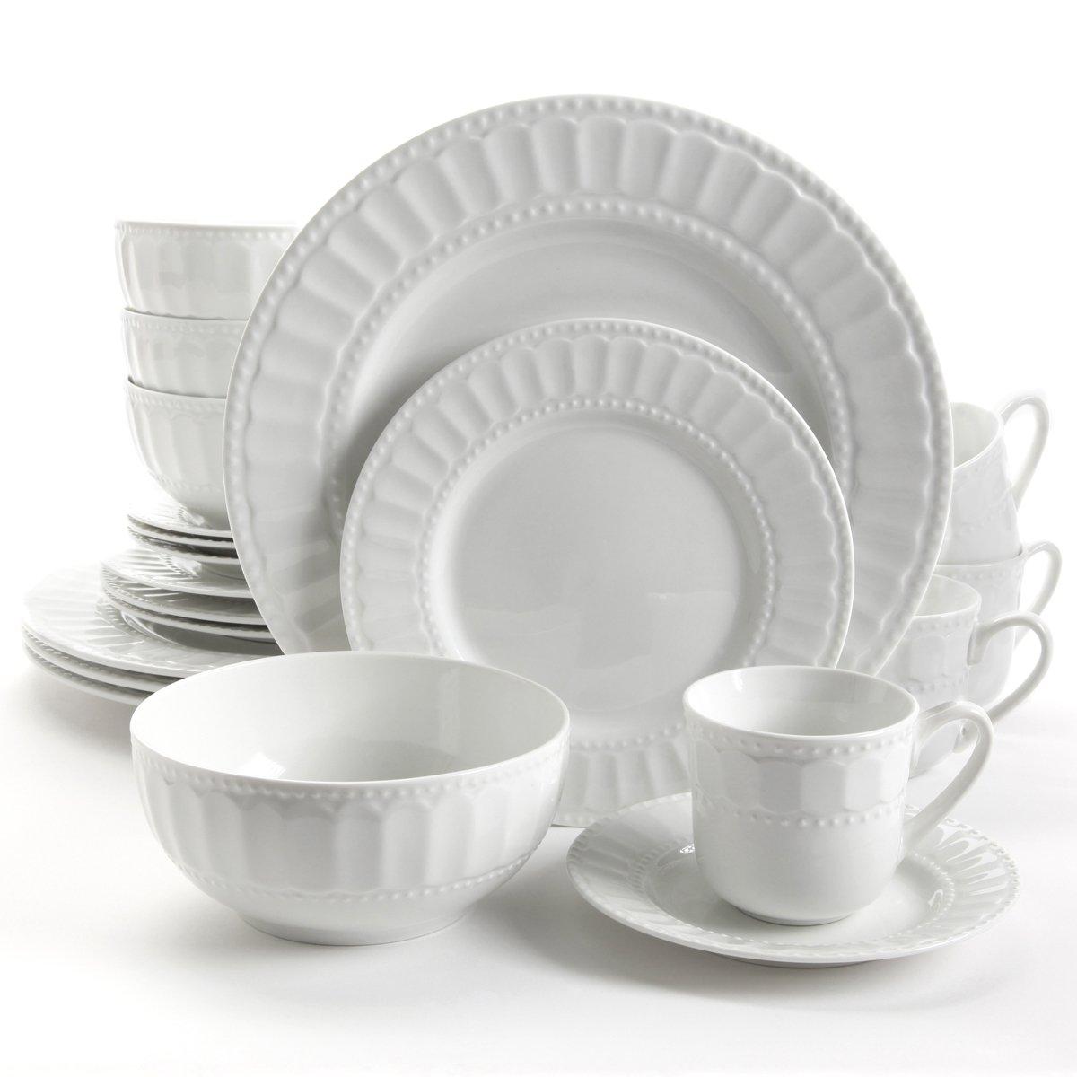 Vajilla de cer mica blanca 20 piezas regalia sears com for Vajilla ceramica
