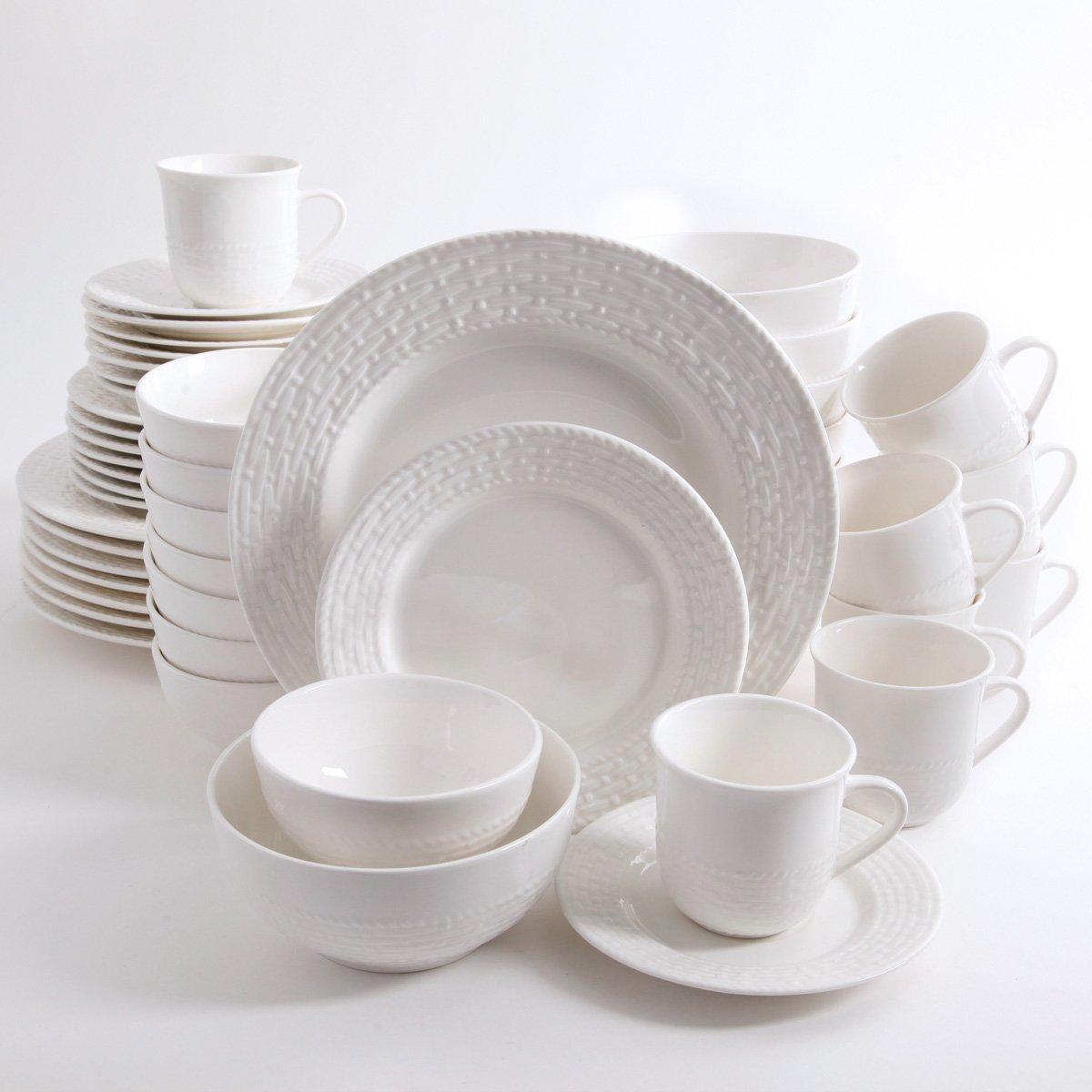 Vajilla de cer mica blanca 48 piezas noble sears com mx for Vajilla ceramica