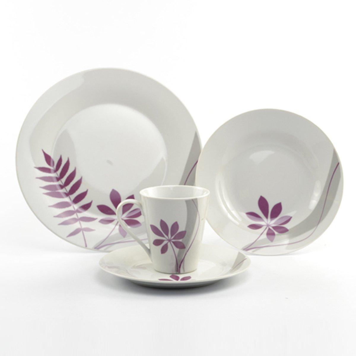 Vajilla 16 piezas porcelana palmira crown baccara sears for Vajilla porcelana