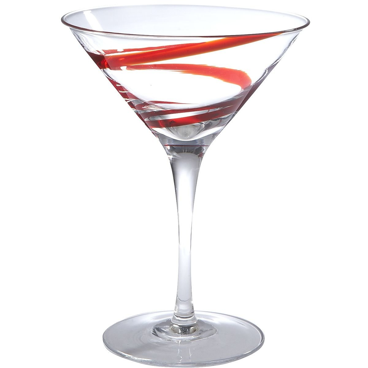 Copa para martini red spiral line pier 1 imports sears for Copas para martini