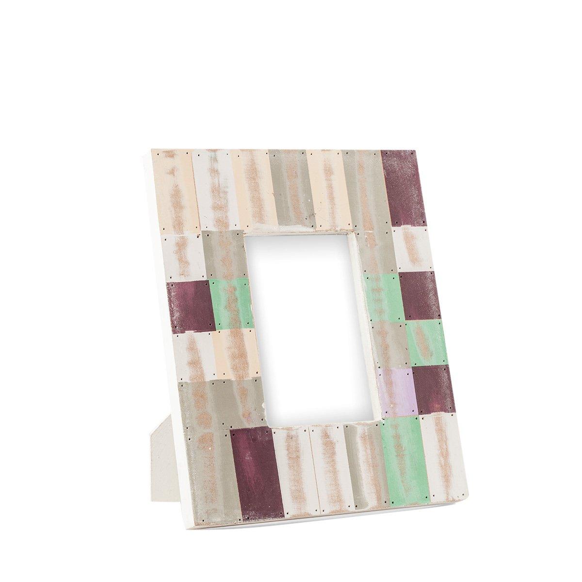 Portaretrato de madera decorado mosaico de color 6 sears - Mosaico de madera ...