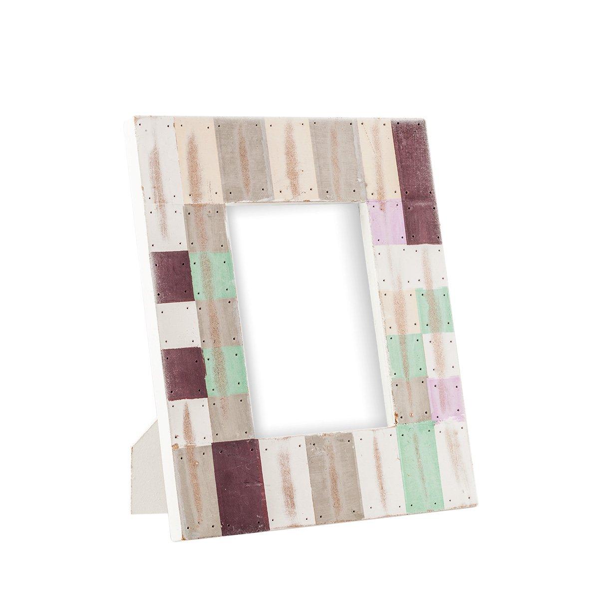 Portaretrato de madera decorado mosaico de color 7 sears - Mosaico de madera ...