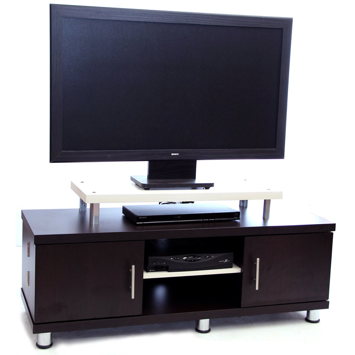 mesa para pantalla wengue con arena