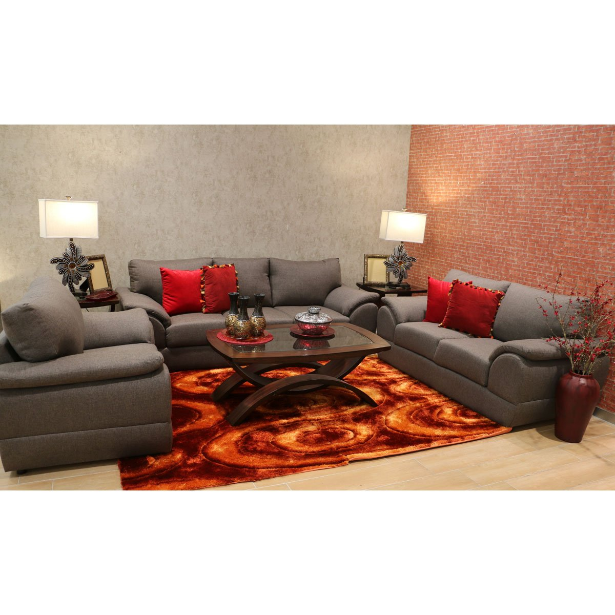 Sof kali salas tangerina color gris sears com mx me for Muebles de sala sears