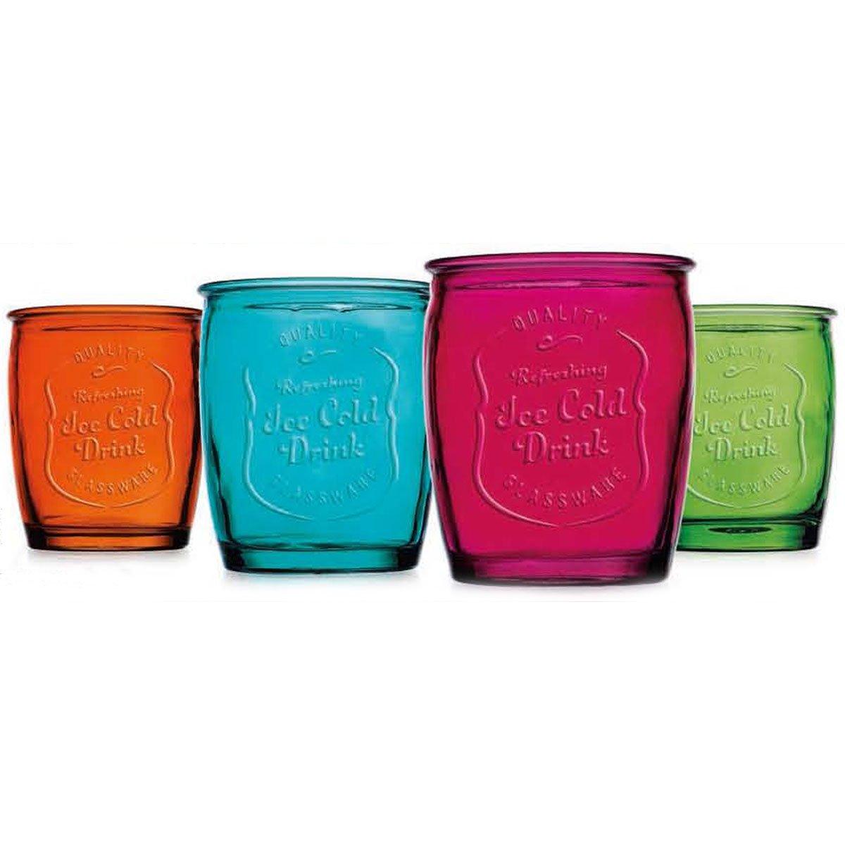 Set de 4 vasos de colores ice cold12 oz 4 colores a elegir - Vasos de colores ...