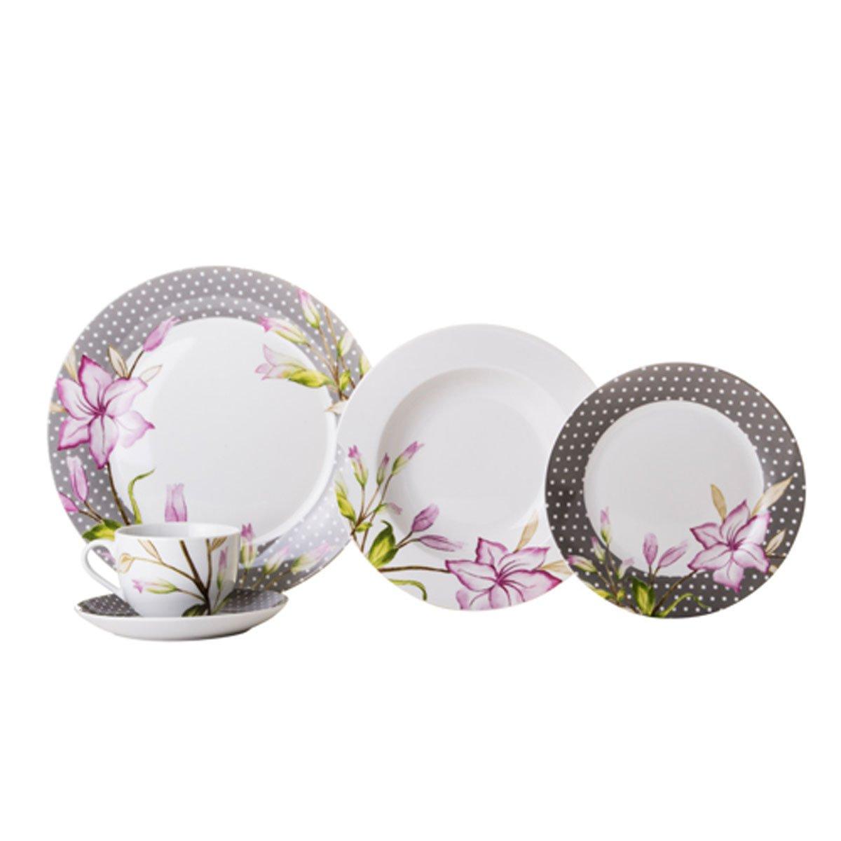 Vajilla 20 piezas porcelana floyd crown baccara sears for Vajilla precio