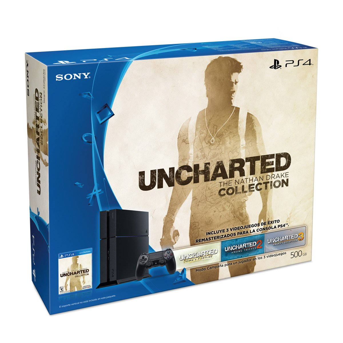 Kit Ps4 500Gb + Uncharted Tnd Collection