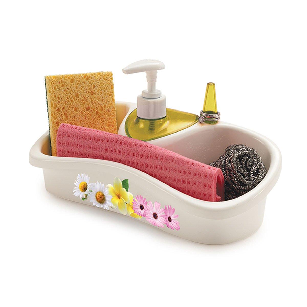 Porta esponjas con dispensador para jab n saponello snips - Dispensador de jabon cocina ...