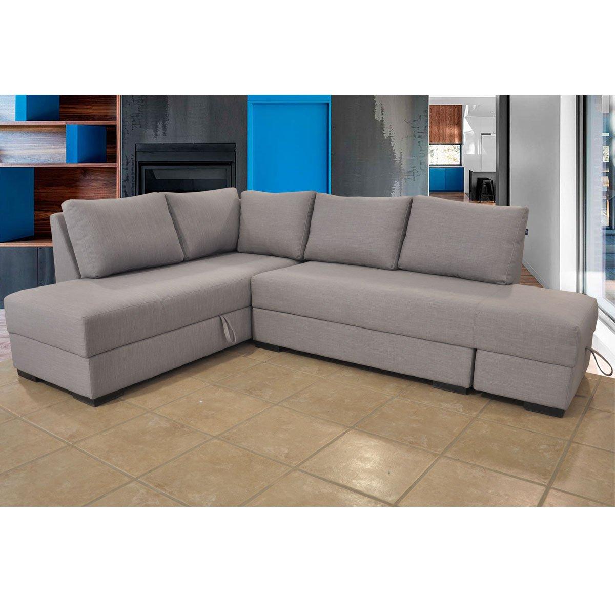 Sala modular 2 piezas izquierdo alison tela gris sears for Muebles izquierdo