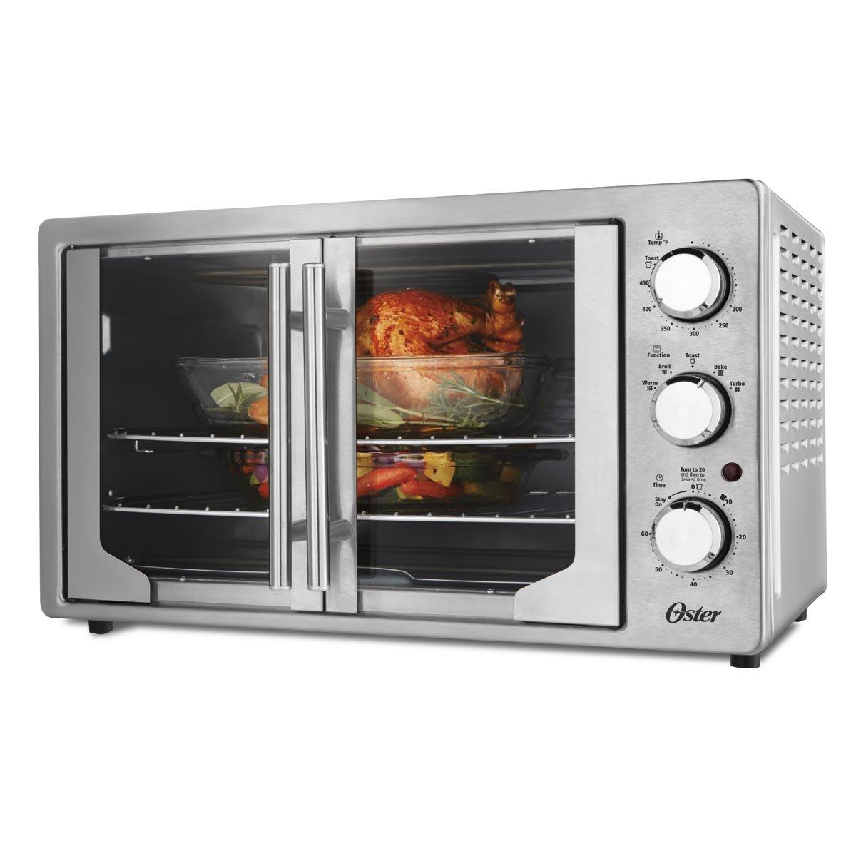 Horno tostador an logo oster de puerta francesa sears for Precios de hornos electricos pequenos