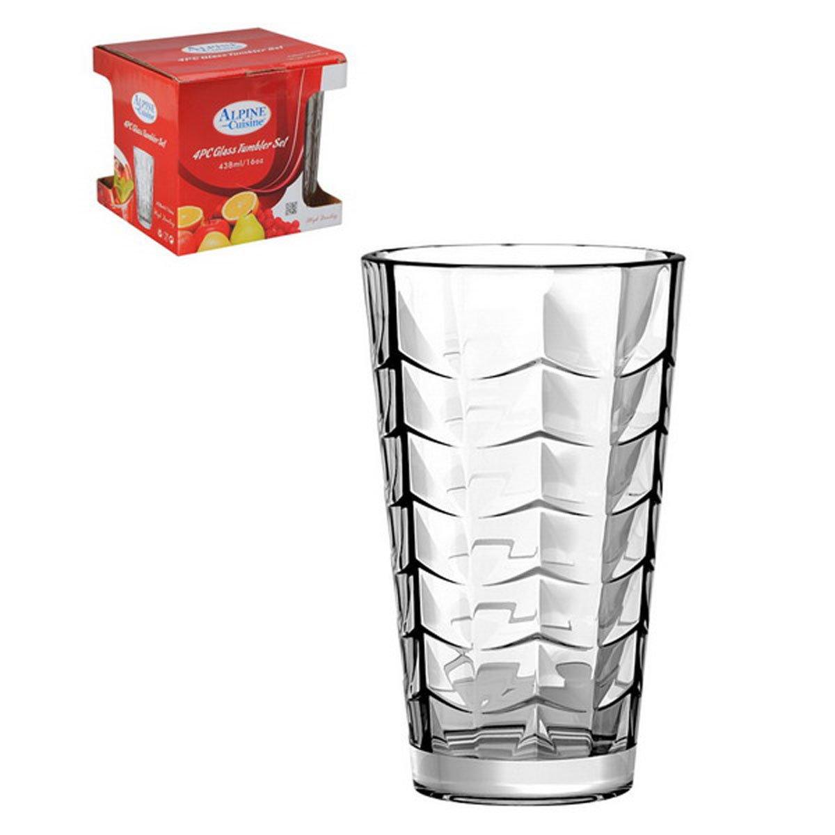 Set de 4 vasos de vidrio transparente sears com mx me entiende - Vidrio plastico transparente precio ...