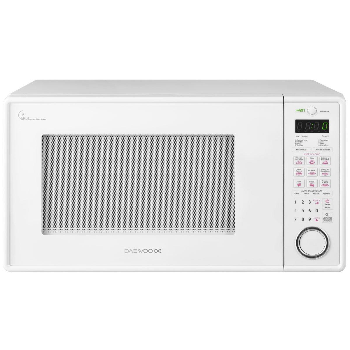 Horno de microondas daewoo 1 1 pies blanco sears com mx for Cocinar en microondas