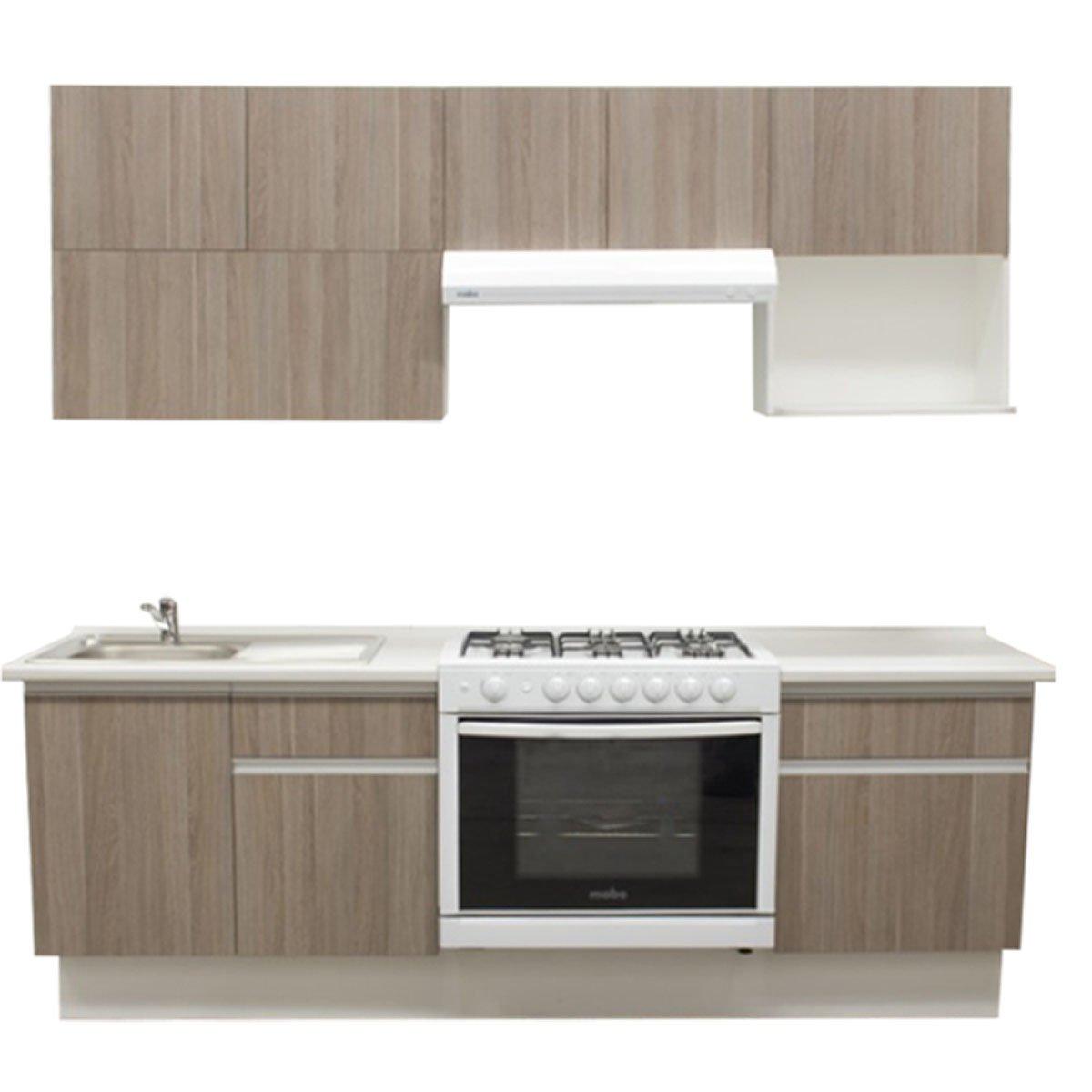 Cocina integral cendra estufa derecha tarja for Muebles de cocina 3 metros