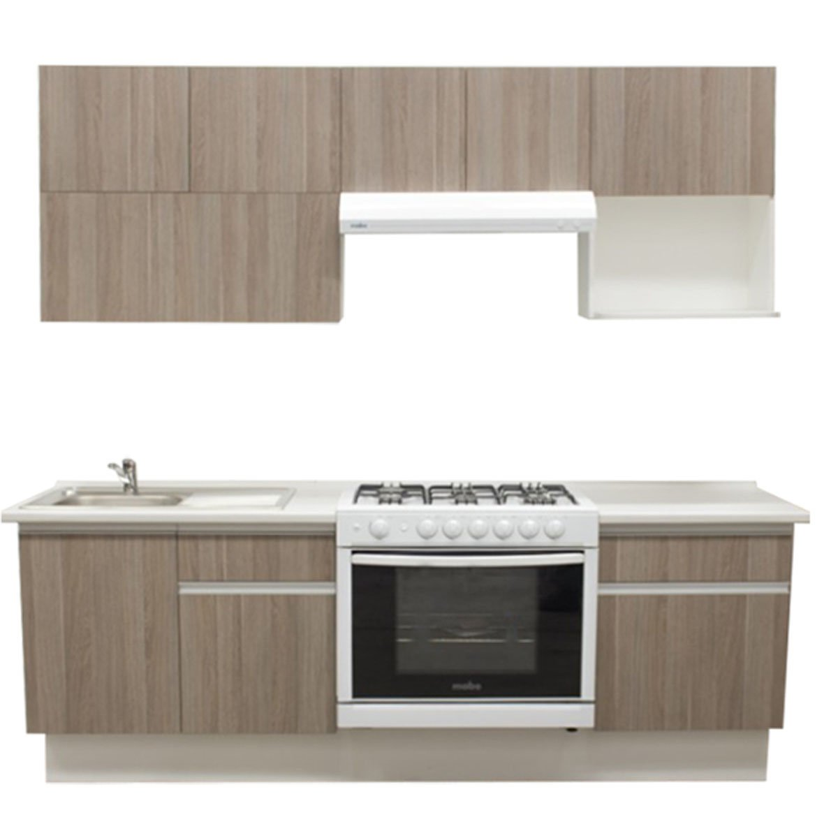 Cocina integral cendra estufa derecha tarja for Programa para disenar cocinas integrales en linea