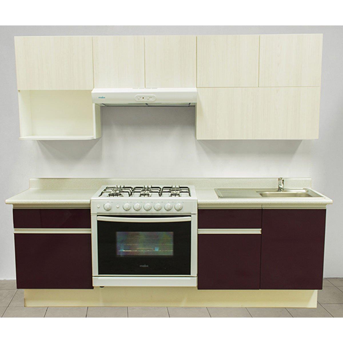 Cocina integral rouge estufa izquierda tarja for Armado de cocina integral