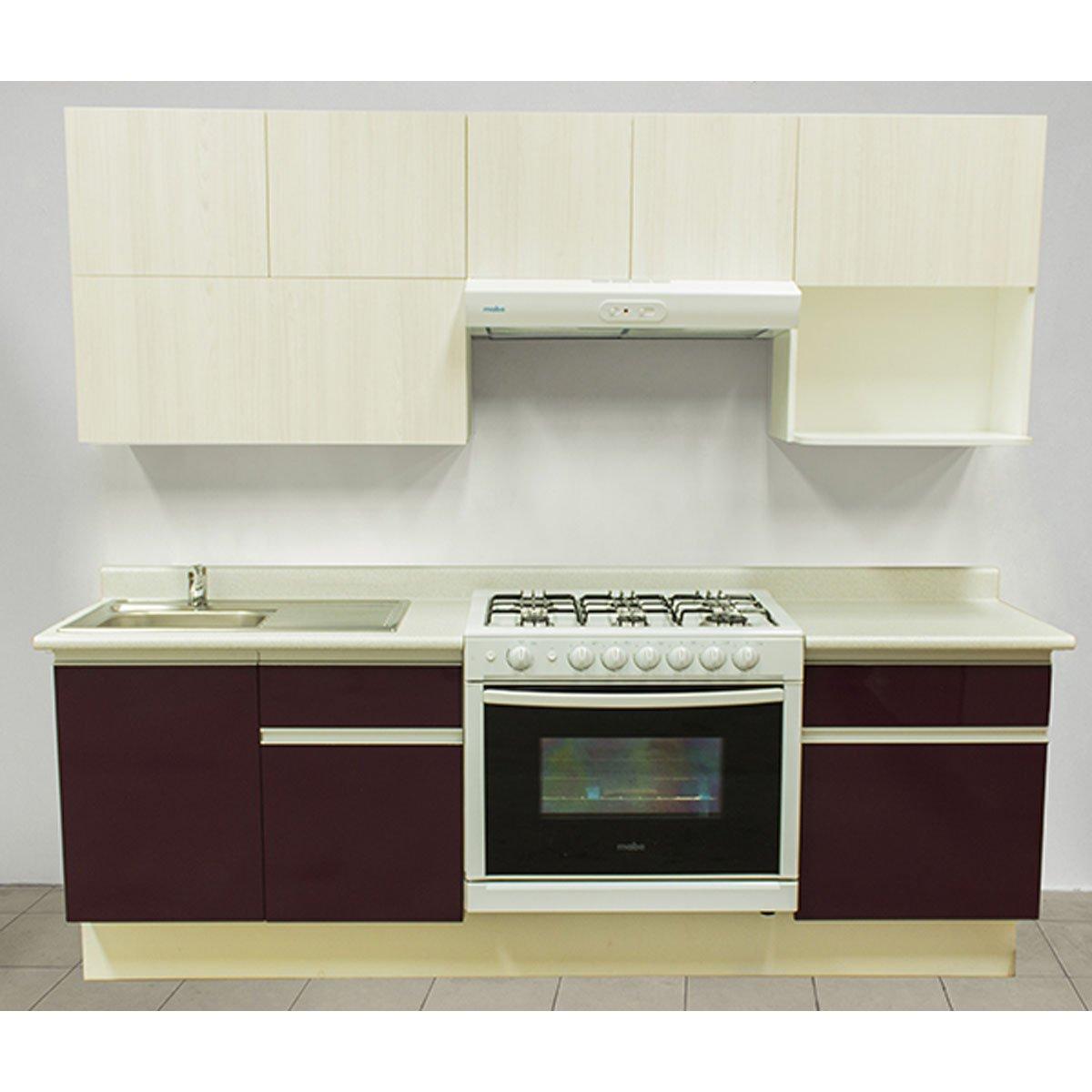 Cocina integral rouge estufa derecha tarja for Armado de cocina integral