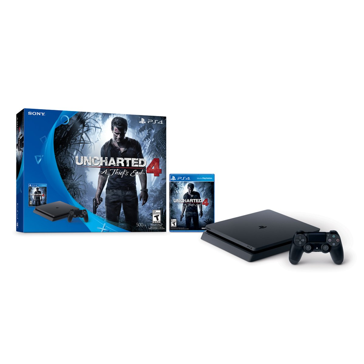Consola Ps4 500Gb + Uncharted 4