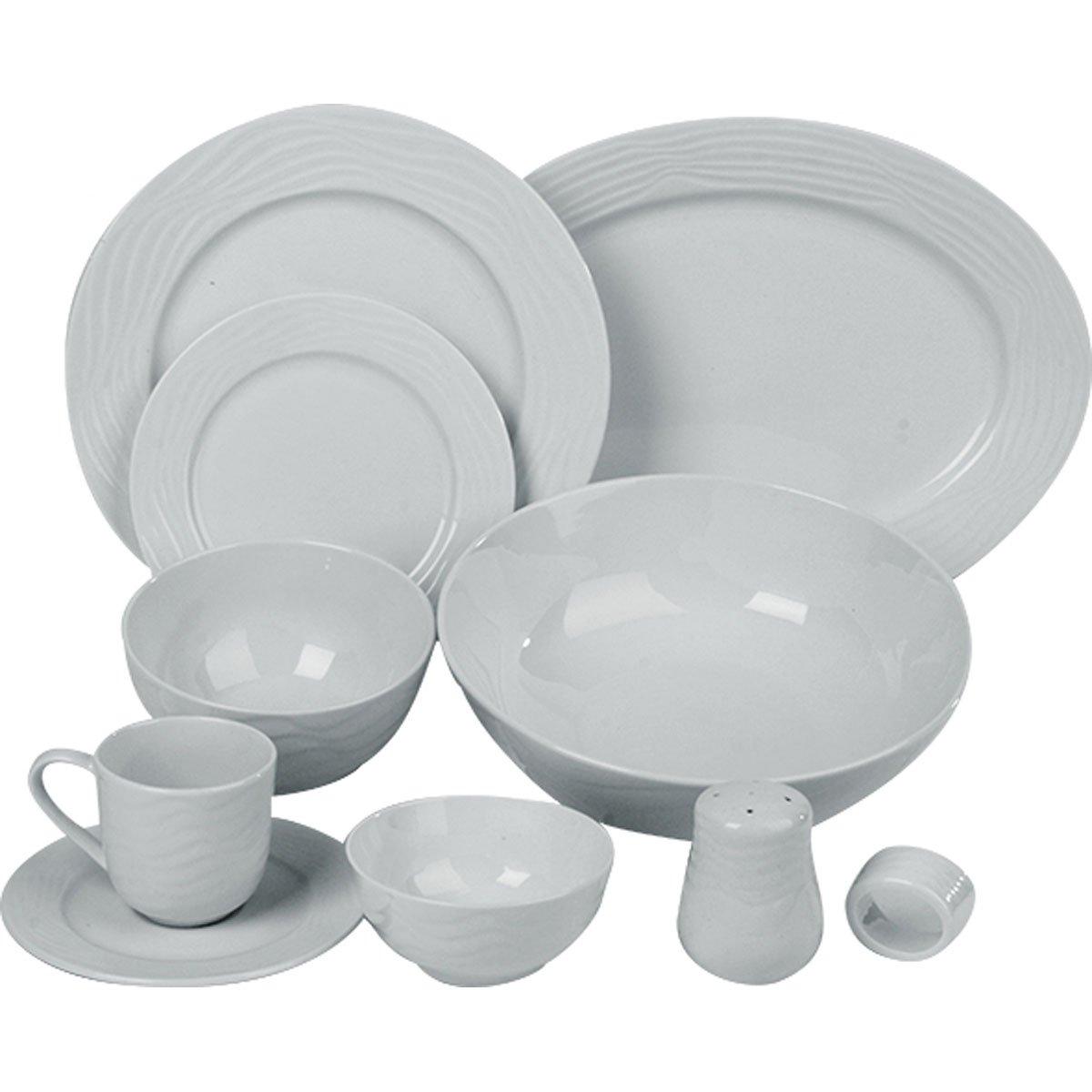 Vajilla 46 piezas ceramica blanca gibson sears com mx for Vajilla ceramica