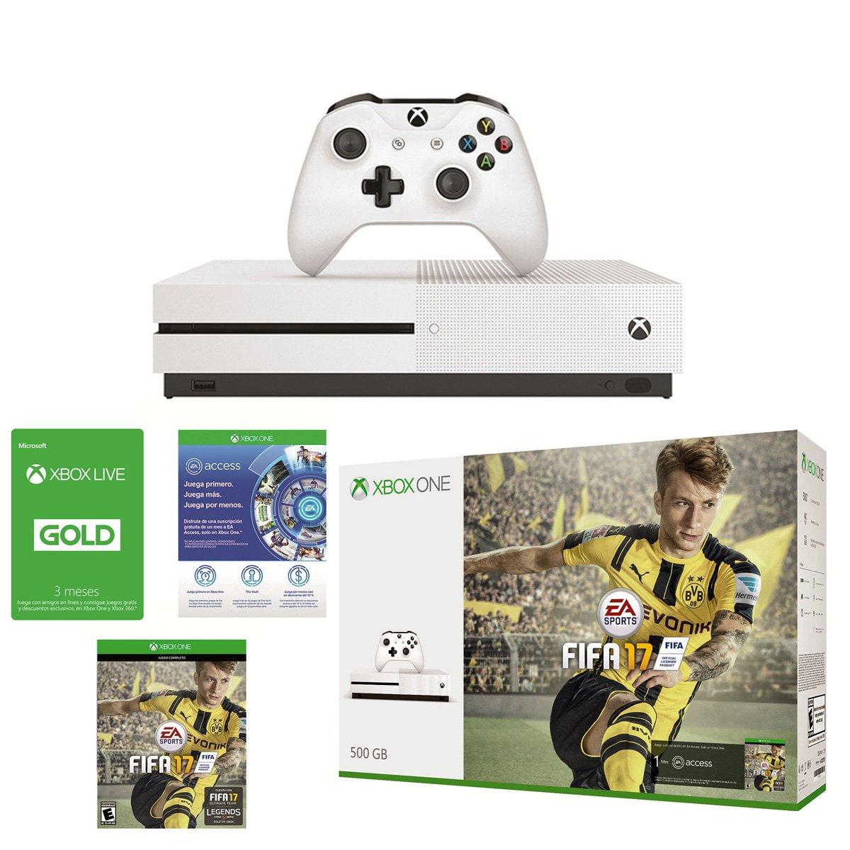 Consola Xbox One S 500Gb Fifa17 + Tarjeta Live Gold 3 Meses