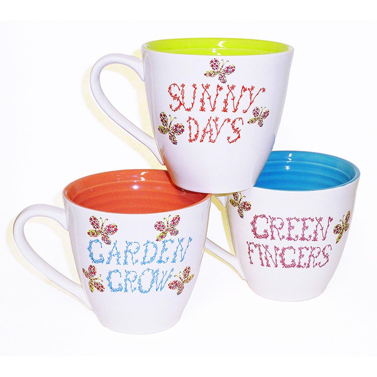 Taza blanca interior de colores sunny just mug varios for Modelos de tazas