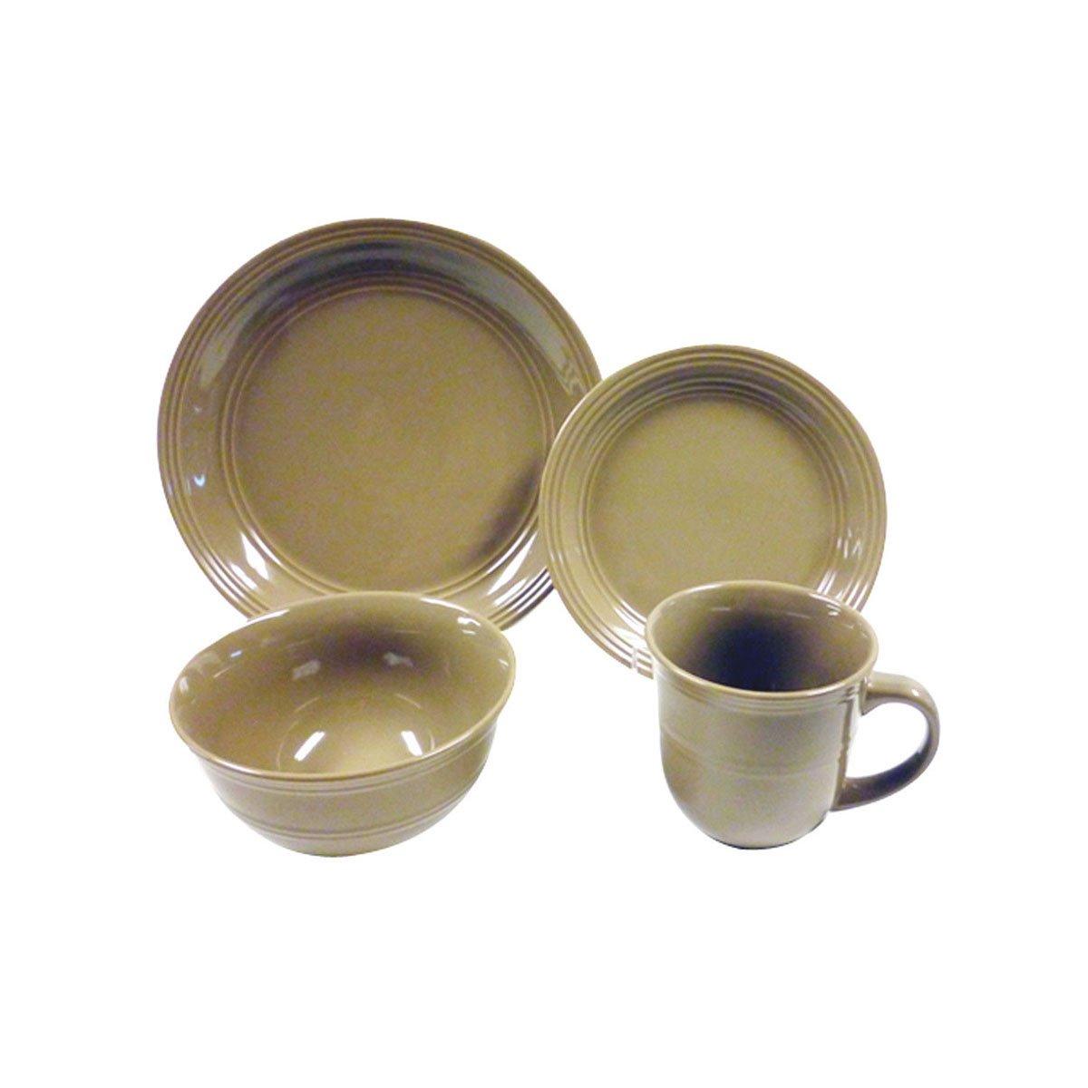 Vajilla 16 piezas cer mica chocolate fc 28540 sears com for Vajilla ceramica